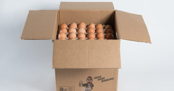 Half Case Large Loose Un-Cooped Cage Free Eggs image