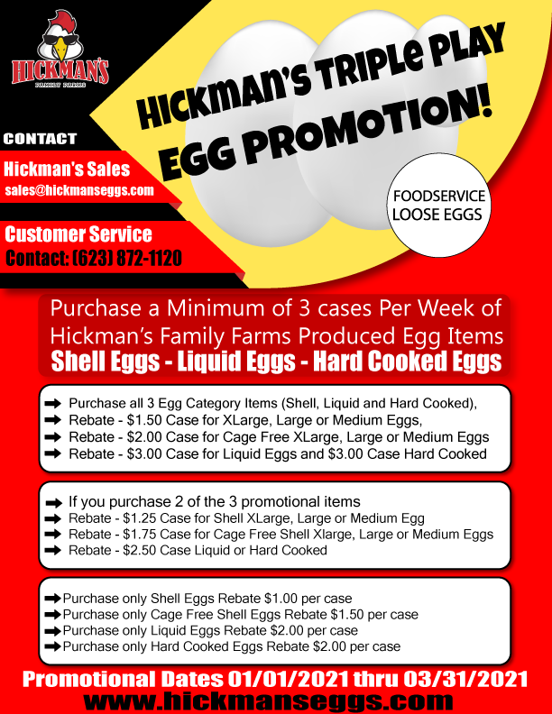 Food ServiceTriple Play Egg Promotion